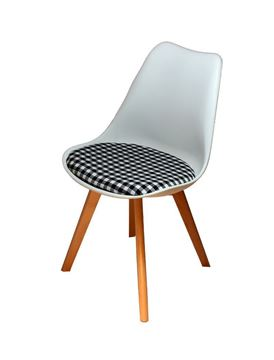 כסא E-Soft - לבן משבצות