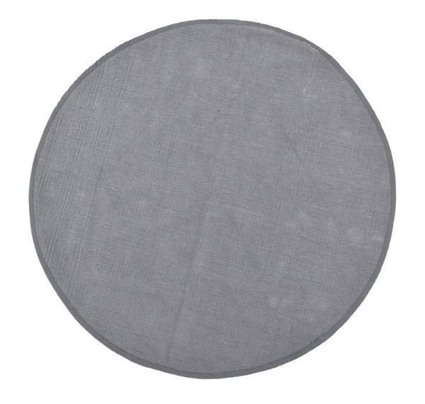 שטיח עגול אפור כהה