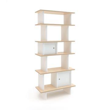מיני ספריה אנכית עץ בהיר