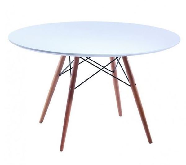 """שולחן איימס עגול לבן 70 ס""""מ"""