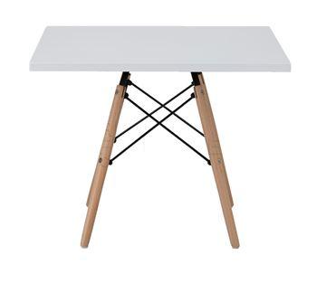 שולחן ריבוע 80X80 לבן