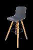 כסא בר E-Round אפור כהה