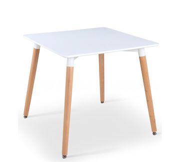שולחן ריבוע לבן