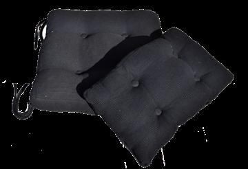 סט כריות פיקה שחור