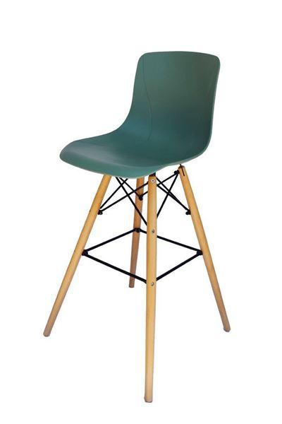 כסא בר E-Round טורקיז