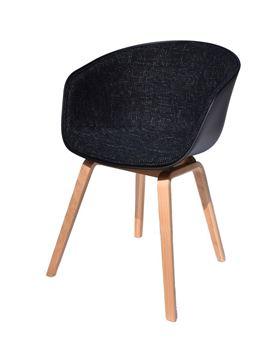 כסא E-Class שחור עם רגל בוק