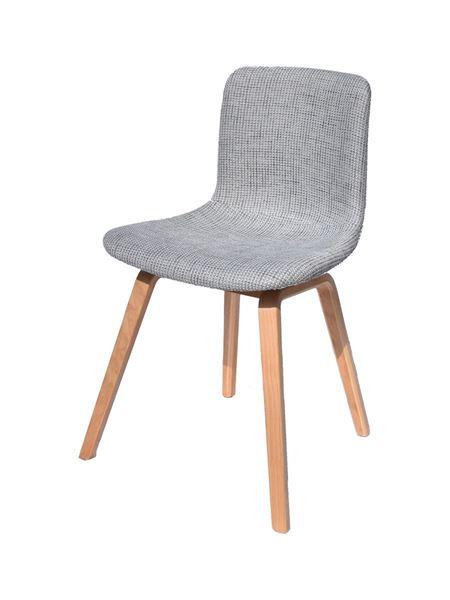 כסא ECLOW עם מושב אפור מרופד