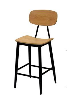 כסא בר Nordic K בגימור אלון
